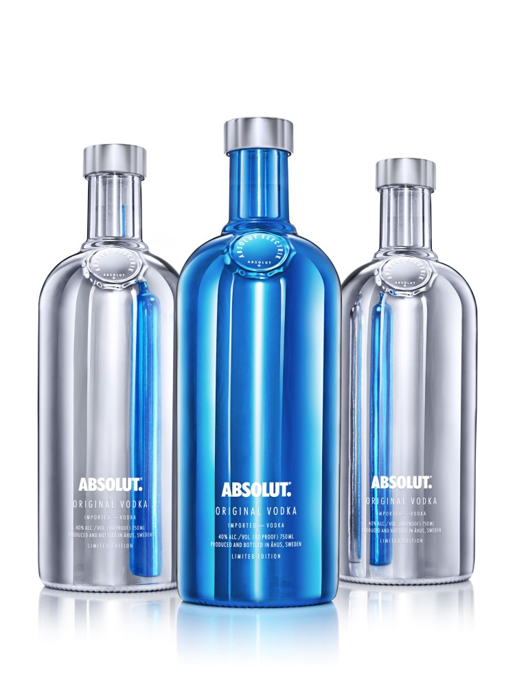 Absolut(R) Introduces Absolut Electrik Bottle In Striking Silver And Electric Blue (PRNewsFoto/Pernod Ricard USA)